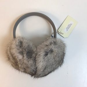 Luxe leather ear muff